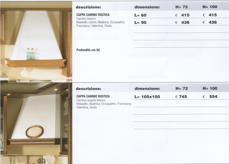 cappe classiche per cucina - 28 images - restart srl produzione di ...
