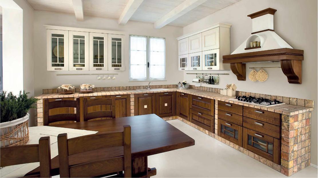 Modelli cucine in muratura - Progetto cucina angolare ...
