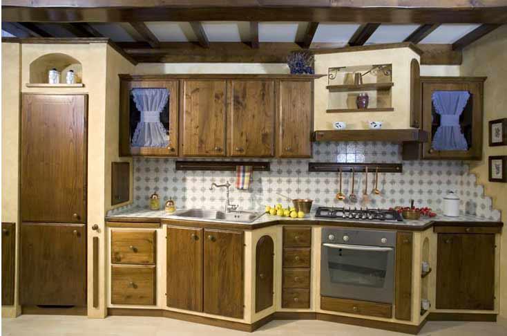 Pin cucine stile country cucina provenzale mobili legno - Cucine in muratura stile provenzale ...