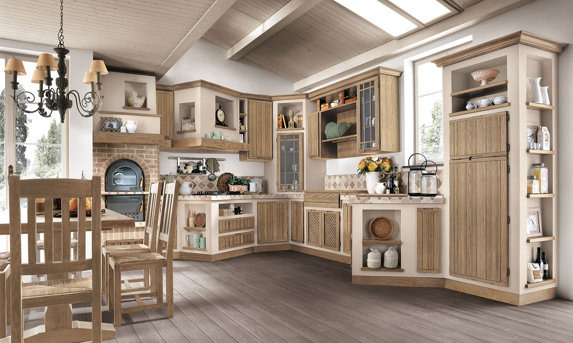 Modelli cucine in muratura for Modelli cucine componibili