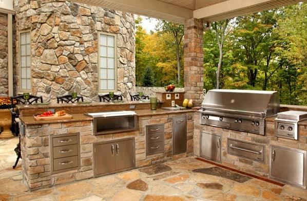 Awesome Cucina In Giardino Contemporary - Home Interior Ideas ...