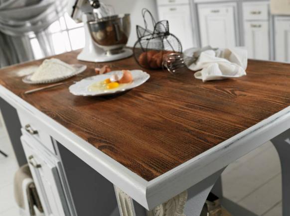 Piano basi in legno - Top cucina legno ...