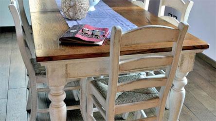 Tavoli sedie per muratura